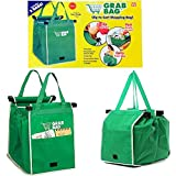 Yi-Yi 2Packs Reusable Shopping Cart Grab Bags and Grocery Organizer Designed for Trolley Carts by Modern Day Living