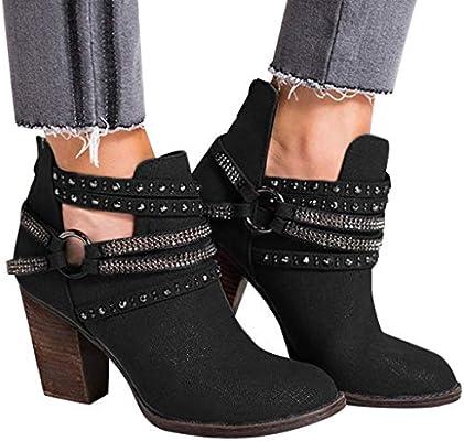 Women's Rhinestone Denim Ankle Booties