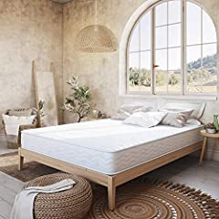 Classic Brands Advantage Wrapped Coil Innerspring 8-Inch Mattress is constructed with tempered steel coils that improve the mattresses durability and longevity and is an excellent value for supportive, undisturbed sleep for years to come.  T...