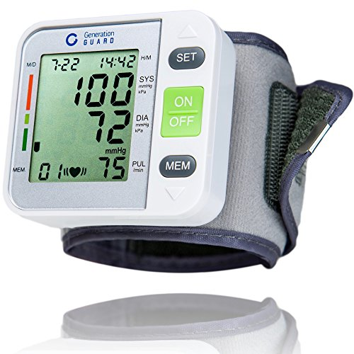 Clinical Automatic Blood Pressure Monitor FDA Approved by Generation Guard with Large Screen Display Portable Case Irregular Heartbeat BP and Adjustable Wrist Cuff Perfect for Health - Pressure Blood Stethoscope Monitor