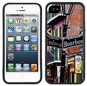 Bourbon Street New Orleans Handmade iPhone 5 Black Bumper Plastic Case by Maris's Diary