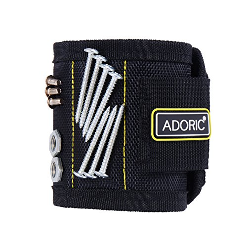 Adoric Magnetic Wristband, Holds Screws, Bolts, Drill Bits and More