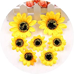 5pcs Silk Sunflower Gerbera Artificial Scissors Waltz Wedding Decoration DIY Wreath Gift Craft Artificial Flower Sunflower 44