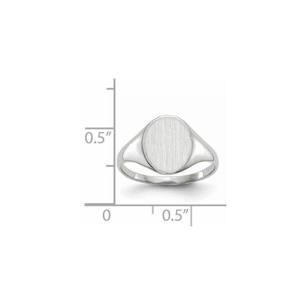 Beautiful White gold 14K 14k White Gold 10.0x9.0mm Open Back Signet Ring