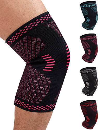Venture Pal Knee Compression Non-Slip Sleeve – Best Knee Brace Support for Running,Hiking,Basketball,Gym – Perfect Treatment for Joint Pain Relief,Meniscus Tear,Arthritis and Injury Recovery