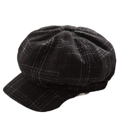 ZOODQ Sombrero de señora Beret Estilo francés Boinas de Lana para Mujer  Retro Gorros Clásicos Gorra dc17ef66bfd