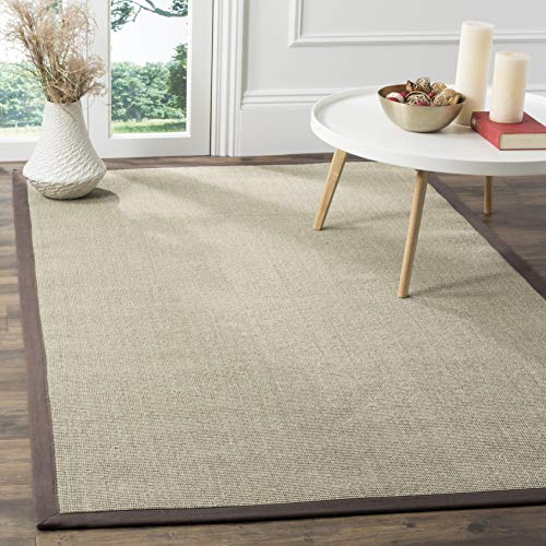Safavieh Natural Fiber Collection NF441F Hand Woven Taupe and Light Brown Sisal Area Rug 6 x 9