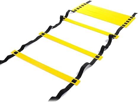 Ritmo De Fútbol Escalera De Formación De La Mano Y La Coordinación Pies 8m Formación Capacidad Escalera De Agilidad Entrenamiento Escalera De Formación De Equilibrio Rejilla (26.24ft) 16: Amazon.es: Deportes y aire