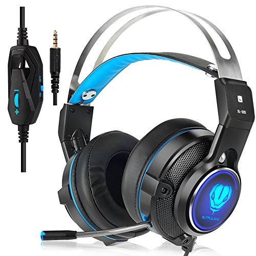 51C2xApaqjL - Gaming Headset for XBOX One Controller, Noise Canceling PS4 Headset, Wired Over Ear Headphones with Mic for PC, Laptop, Mac