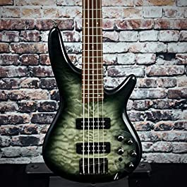 Ibanez Standard SR405EQM Bass Guitar – Surreal Black Burst Gloss