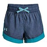 Under Armour Girls' Sprint Shorts, Academy Light Heathe (409)/Venetian Blue, Youth X-Small