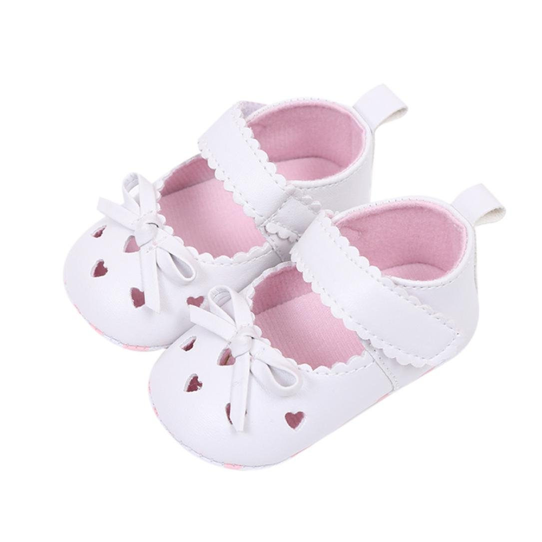 Hot Sale ! Kstare Baby Shoes,Infant Baby Girls Bowknot Soft Sole Anti-slip Crib Shoes (0~6 M, Pink)