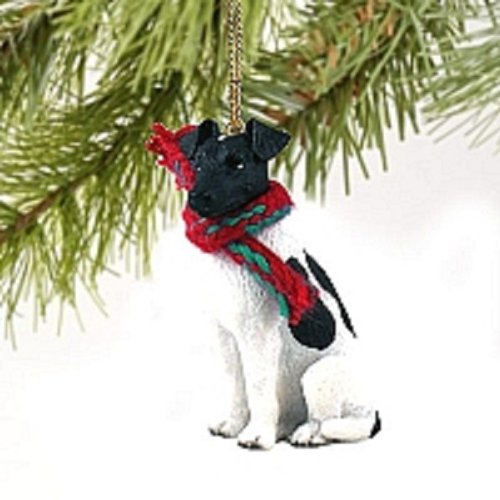 Fox Terrier Black & White Original (Black Fox Terrier Ornaments)