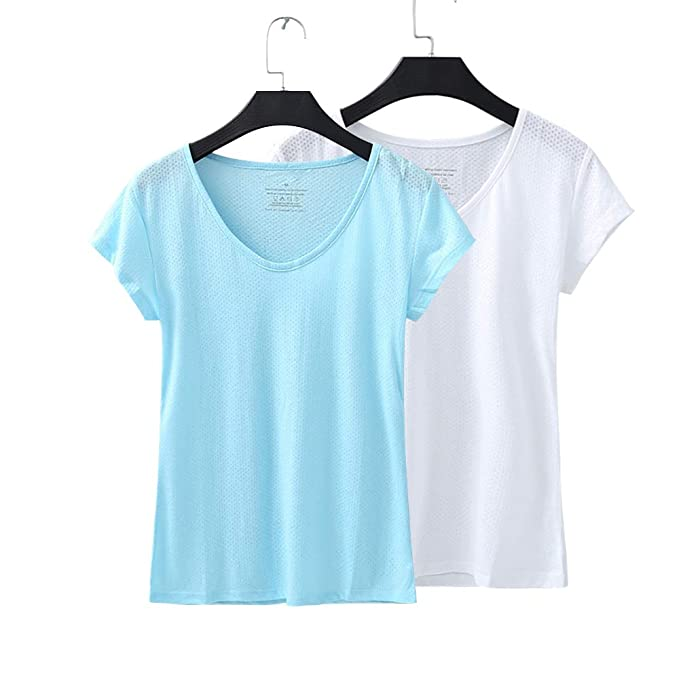 Amazon.com: LITTLEPIG - Camiseta de entrenamiento para mujer ...