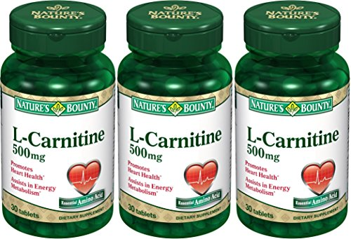 Natures Bounty L Carnitine Tablets Bottles