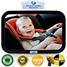 ONE DAY SALE Baby Back Seat Car Mirror by Perfect Quality Solutions for Rear Facing Baby Carrier and Car Seats is Crash-Tested Shatter-Proof and Distortion-FREE GIFT-eBook-100% Satisfaction Guarantee