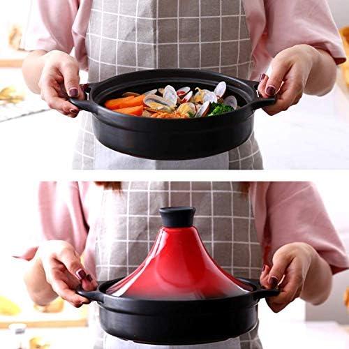 YZ-YUAN Accueil Tajine avec Couvercle en Forme de cône, 20 Cm Marmite Tajine Casserole en céramique Casserole avec Couvercle, sans Plomb, pour la Cuisine à Domicile, A