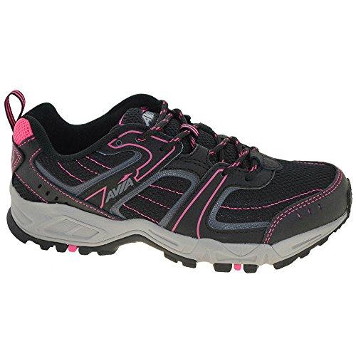 AVIA Women's Avi-Dell Running Shoe ,Black/Iron Grey/Zuma Pink,7 D US Avi Trail Running Shoe