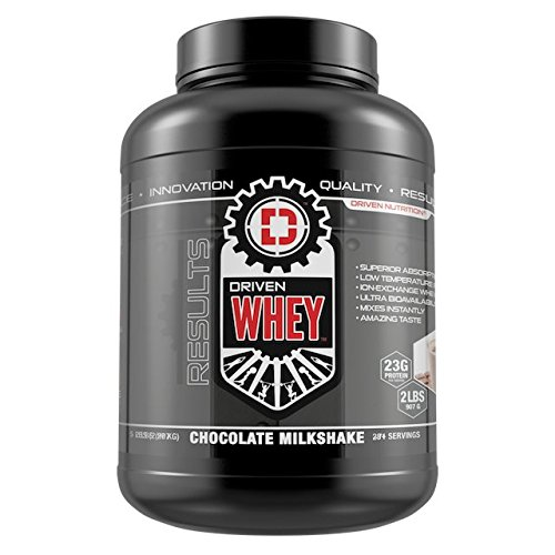 DRIVEN WHEY- Grass Fed Whey Protein: The superior tasting whey protein powder- recover faster, boost metabolism, promotes a healthier lifestyle (Chocolate Milkshake, 5 lb) by Driven Nutrition