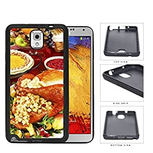 Thanksgiving Turkey Dinner And Stuffing Rubber Silicone TPU Cell Phone Case Samsung Galaxy Note 3 III N9000 N9002 N9005