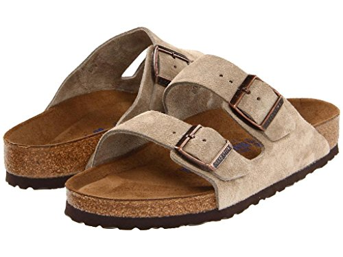 (Birkenstock Unisex Arizona Taupe Suede Sandals - 44 M EU/11-11.5 B(M) US Men)