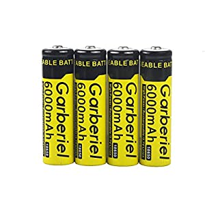18650 Rechargeable Battery 10 PC 18650 Battery 6000 mAh 3.7v Performance Li-ion Batteries Button Top Battery (Not AA OR AAA Battery)