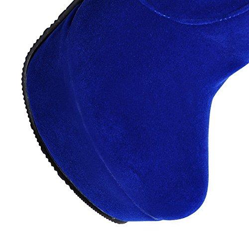 Round Blue Toe Resistant Slip AdeeSu Boots Comfort Womens Suede SXC01765 Dress q1w7yx6E