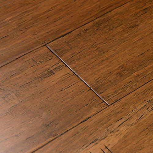 Antique Hardwood Flooring (Cali Bamboo - Solid Wide Click Bamboo Flooring, Medium Antique Java Brown, Aged - Sample)