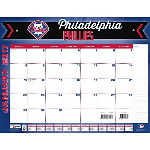 "Turner Licensing Sport 2017 Philadelphia Phillies Desk Pad Calendar, 22""X17"" (17998061514)"