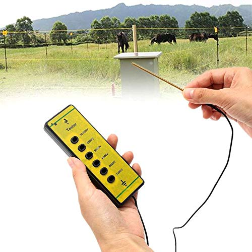 Farm Electrical Fence Voltage Tester Fencing Poly Wire Tape Rope Energiser Tool for Daily Fence Maintenance Mayitr 13x4.5x1.5cm