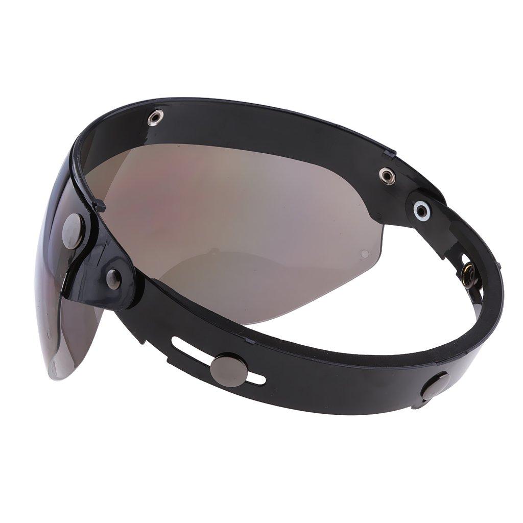 visiera universale per casco della moto con 3/bottoni a clip Magideal a 3//4