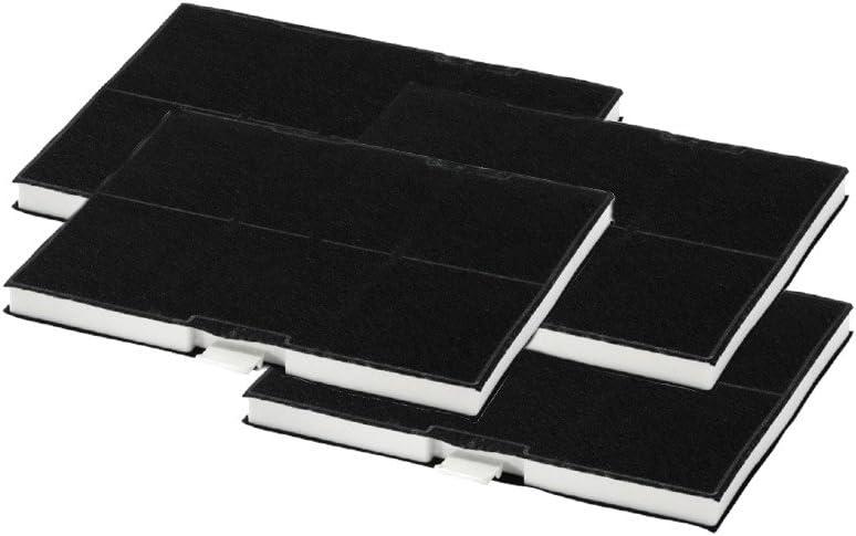 Super Juego de 4 x recambio de filtro de carbón activo para Siemens LZ53451 Bosch Constructa Neff Junker – 705432, 00703606: Amazon.es: Grandes electrodomésticos