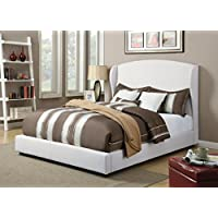 ACME Caroline White Linen Eastern King Bed