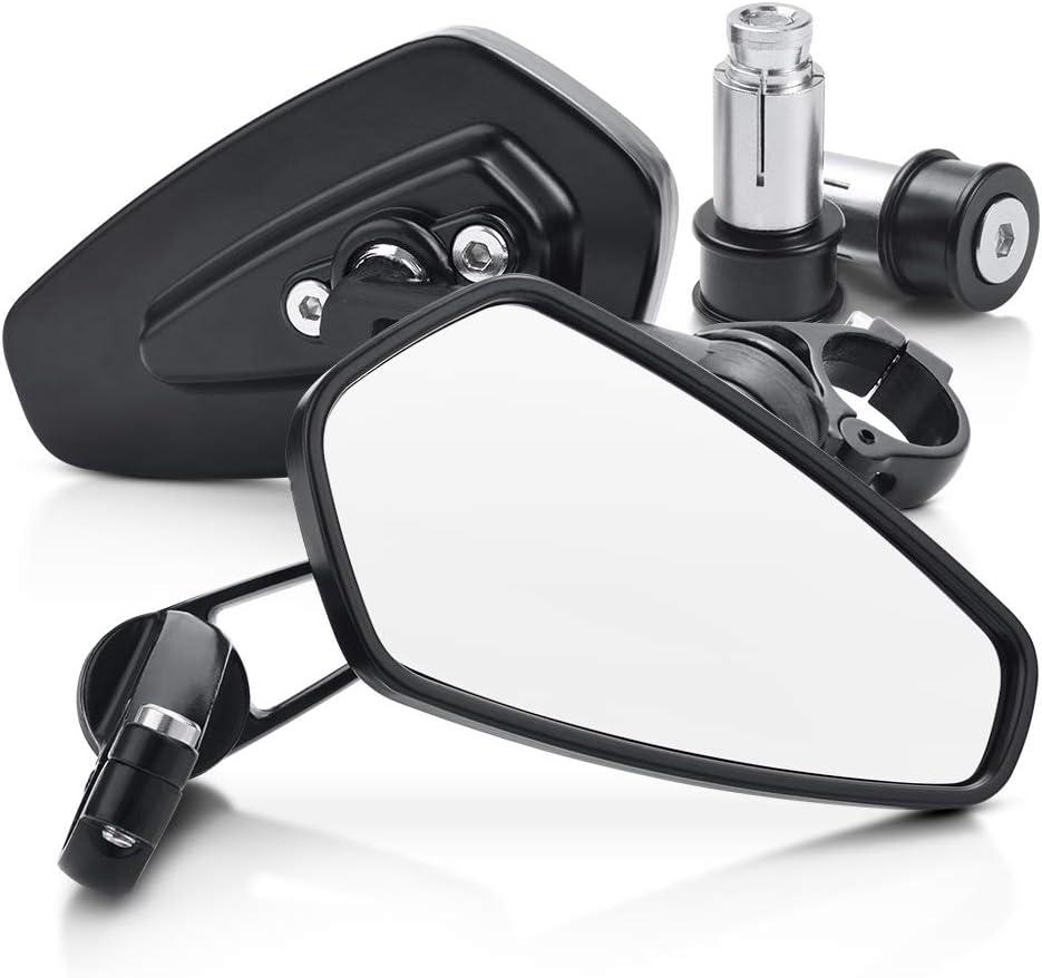 Mictuning Universal Lenkerendenspiegel Motorrad Spiegel Seitenspiegel Rückspiegel 2 Pack Auto