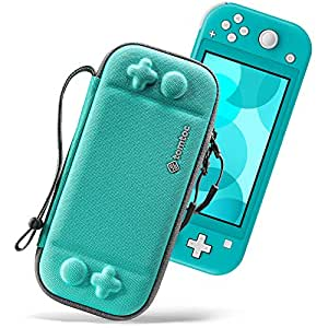 tomtoc Slim Case for Nintendo Switch Lite, Original Patent Protective Portable Carrying Case Travel Storage Hard Shell with 8 Game Cartridges and Military Level Protection, Turquoise