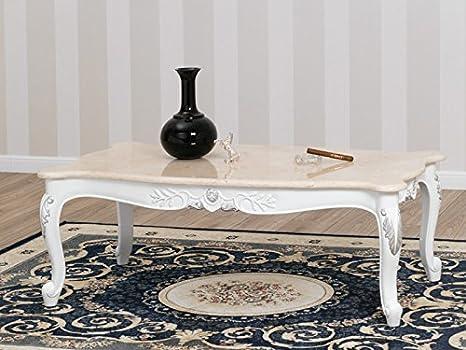 Simone guarracino tavolino da salotto stile barocco moderno bianco