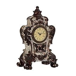 Antique styled designed ceramic table clock