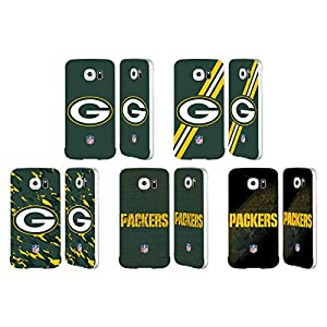Official NFL Green Bay Packers Logo Silver Aluminum Bumper Slider Case for Samsung Galaxy S6 from Head Case Designs