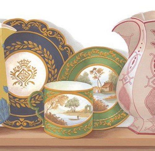 Waverly 5506000 Porcelain Van-De-Loire Wallpaper - Wallpaper Waverly Vintage