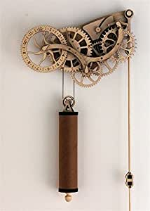 Abong Handcrafted Mechanical Wooden Pendulum Clock Kit - Easy Assembly - with Clear, Illustrated Color Instruction Guide
