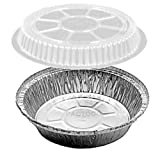 Handi-Foil 7'' Round Aluminum Foil Take-Out Pan Containers w/Clear Plastic Dome Lid 500/Pk (pack of 500)