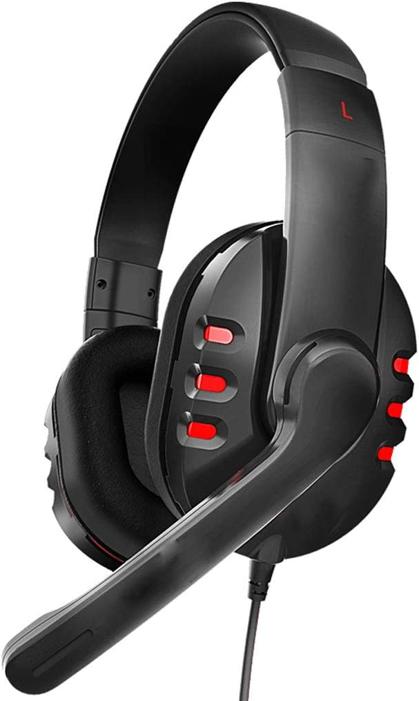 Zyj stores-Bluetooth Headphones Headset Computer USB Gaming Headset Headset with Microphone Microphone(Color:Black)