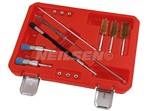Universal Injector Seat Cleaning Set Brush and injectors NEILSEN
