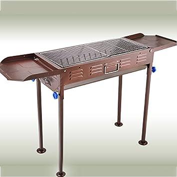 TY&WJ Barbacoa de carbón, Aire libre Grande Parrilla Plegable Barbecue Herramienta Patio trasero portón trasero