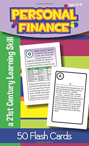 Personal Finance for Ages 13-14 Flash Cards