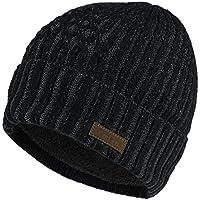 Vmevo Wool Cuffed Beanie Hat Warm Winter Knit Hats Skull Cap with Lining for Men and Women