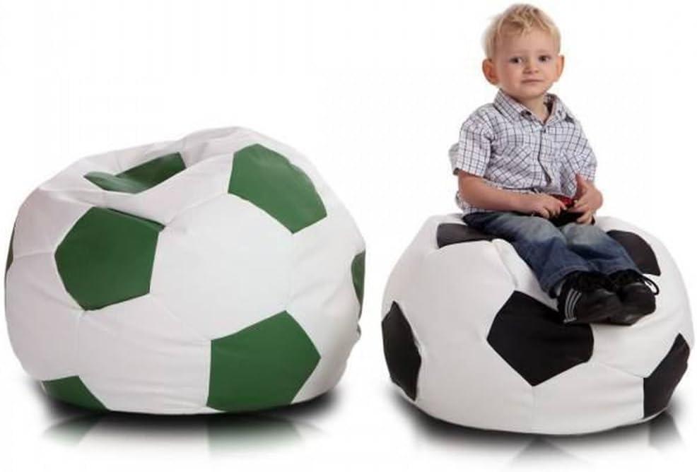 JUSTyou Pelota de fútbol Small Puff Cojín Gigante de Piel ...