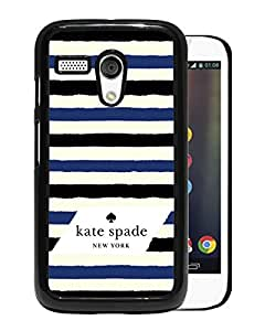 Beautiful DIY Designed Kate Spade Cover Case For Motorola Moto G Black Phone Case 34