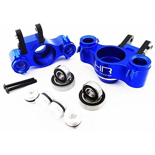 Hot Racing RVO21XG06 Aluminum Axle Carriers W/ Bearings & Carbon Arms (Blue) - - Aluminum Steering Revo