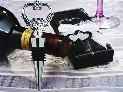 Unique Heart Wine Stopper and Bottle Opener.